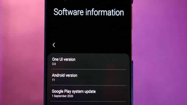 Galaxy S20'ye Android 11 geliyor