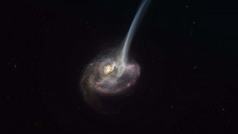 Bir galaksi, işte böyle ölüyor