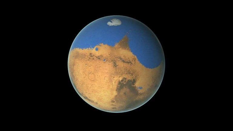"""Mars'ta """"gizli okyanus"""" mu var?"""