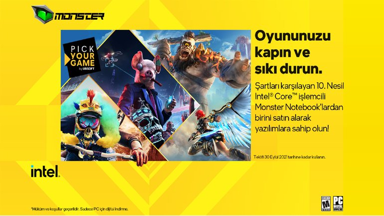 Monster'dan Ubisoft sürprizi