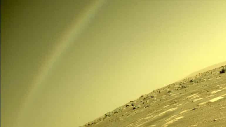 Mars'ta gökkuşağı olur mu?