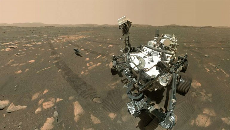 """Mars'tan yeni """"selfie"""" geldi"""