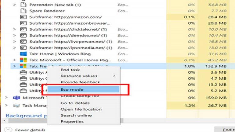 Windows 10'da EcoQoS zamanı