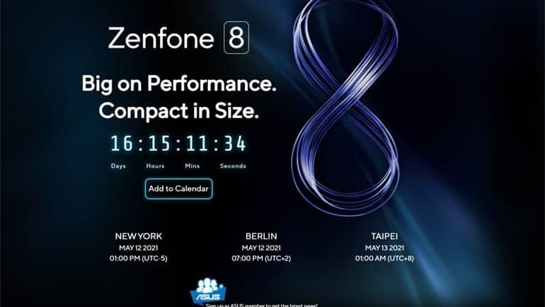 Zenfone 8 için geri sayım başladı