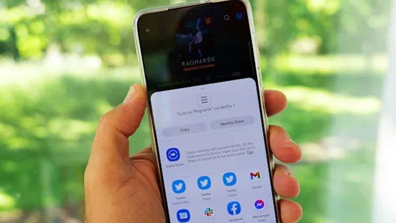 Android 12'ye paylaşım güncellemesi