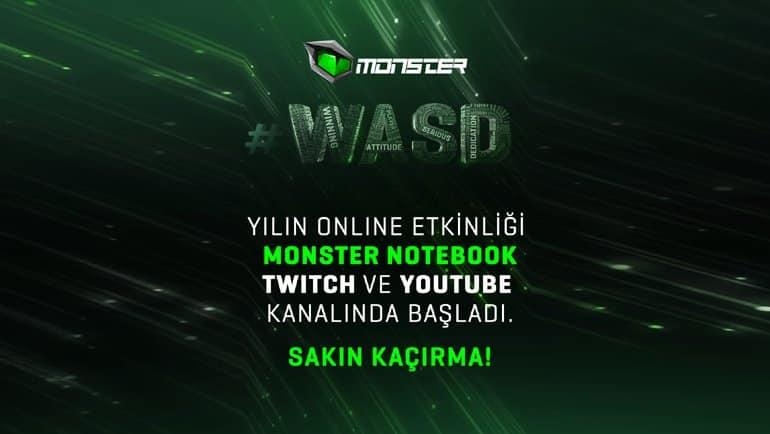 Monster #WASD canlı yayını başladı!